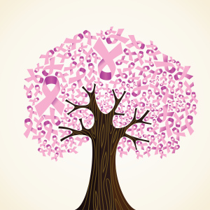 Pink ribbon tree